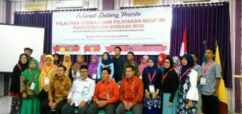 Pelatihan Otomasi dan Pelayanan Mandiri Perpustakaan Berbasis RFID Berlangsung Di Muhammadiyah Aceh